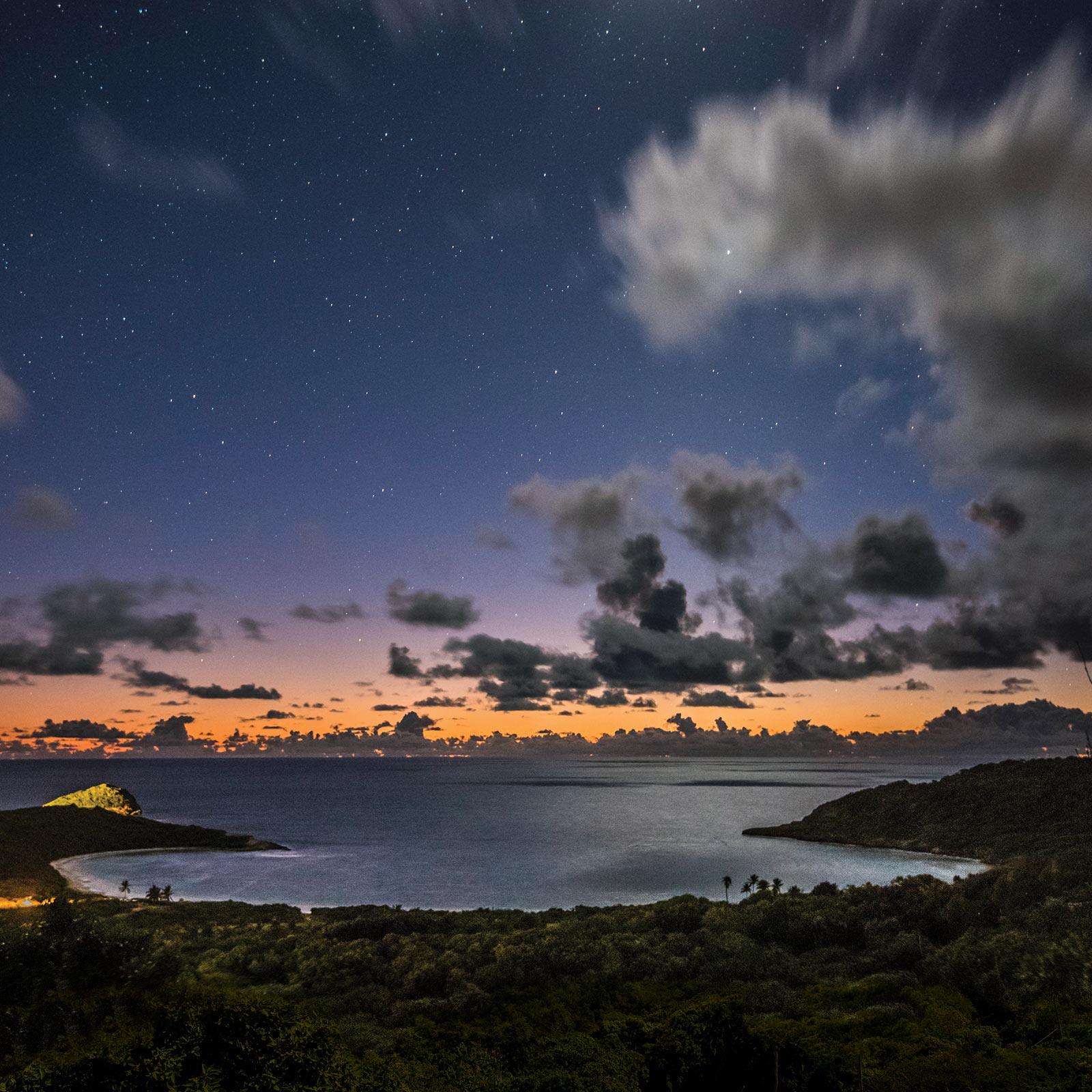 half moon bay antigua night